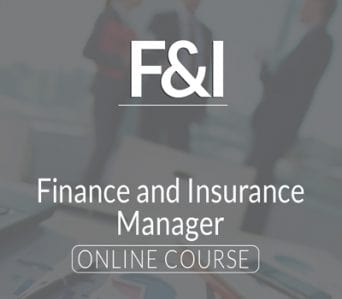 F&I – Finance and Insurance Manager Online Course